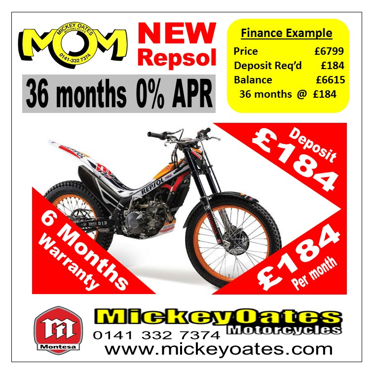 MONTESA 4RT REPSOL > Off-Road Bikes > Home > Mickey Oates Motorcycles